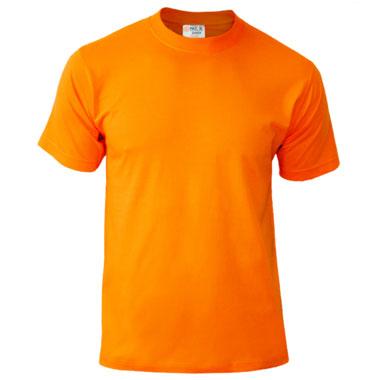 Подростковая футболка однотонная Novic Junior 155 оранжевая