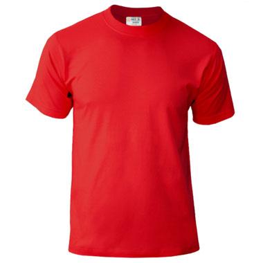 Подростковая футболка однотонная Novic Junior 155 красный