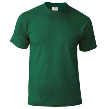 Подростковая футболка однотонная Novic Junior 155 темно-зеленый